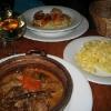 Risotto de St Jacques Piston et Tomates Confites et Fricassee de Veau aux Cepes