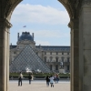 The Louvre through the Arc de Triomphe