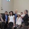 At the church