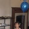 Mia with balloons